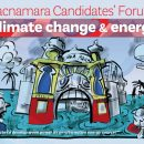 Macnamara Candidate's Forum on climate change & energy